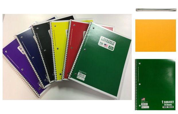 Walmart 70ct Wirebound Notebook, Wide Ruled