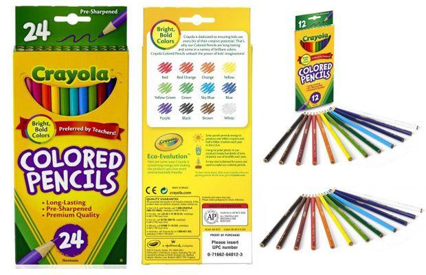 Walmart Crayola Long-Barrel Colored Woodcase Pencils, 12-Count