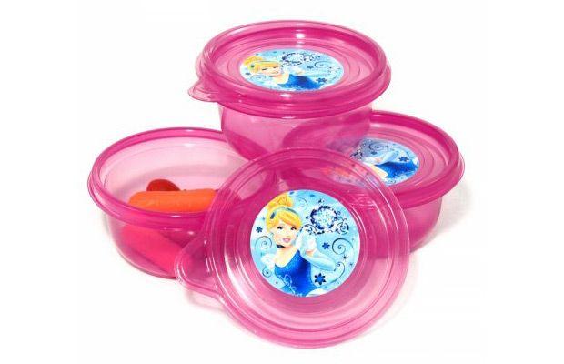 Walmart 3pk Disney Princess Cinderella Lunch Snack Container Girls Back to School