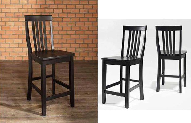 "Walmart Crosley Furniture School House Bar Stool with 24"" Seat Height, 2pk"