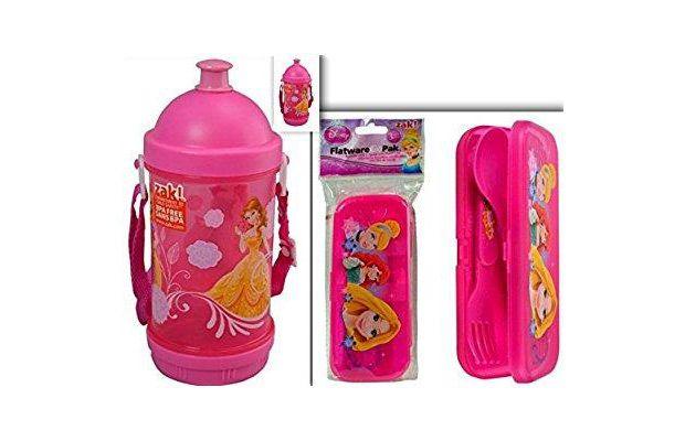 Walmart disney princess bpa free sip-n-snack canteen & flatwaregopak