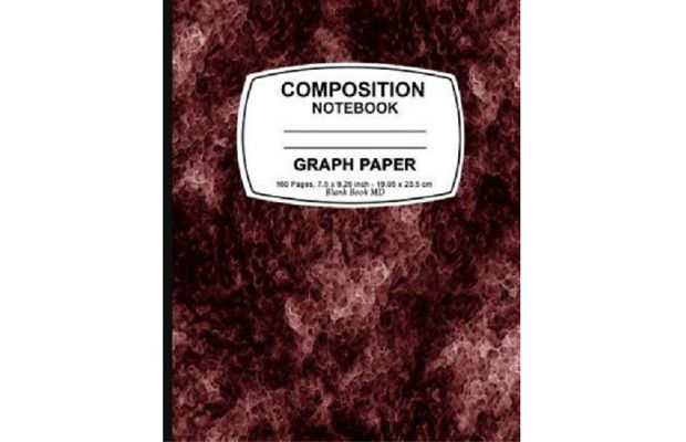 Walmart Graph Paper Notebook Red Marble, Graph Paper Notebook