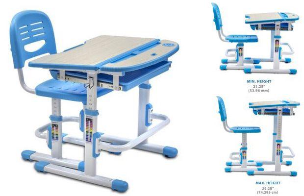 Walmart Mount-It Childrens Desk and Chair Set, Kids School Workstation