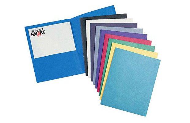 Walmart SchoolSmart Heavy Duty 2-Pocket Folder, 25-Pack