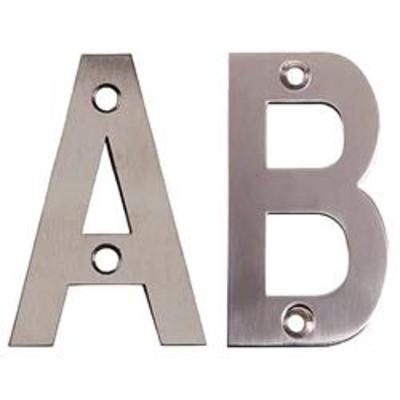 75mm Face Fix Letters Satin Stainless Steel - Letter C