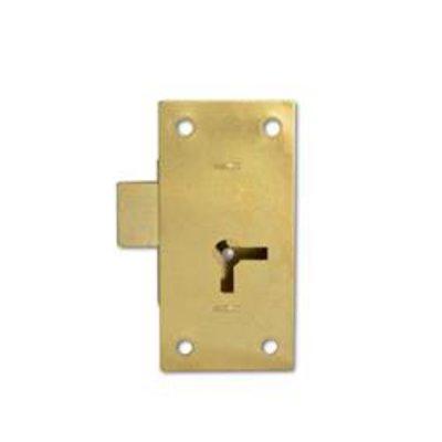 ASEC 100 1 Lever Straight Cupboard Lock - 38mm SB KA Visi