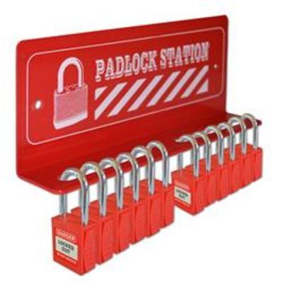 ASEC 12 Padlock Mini Lockout Tagout Station - 12 Lock