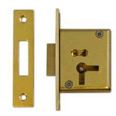 ASEC 15 4 Lever Cut Cupboard Lock - 50mm SB KD LH Visi