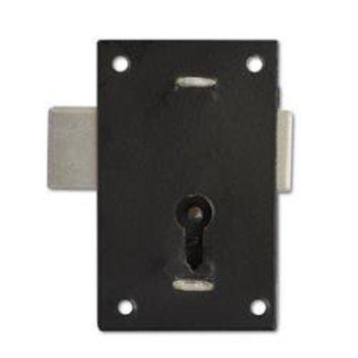 ASEC 150 1 Lever Straight Cupboard Lock - 57mm BLK KA Visi