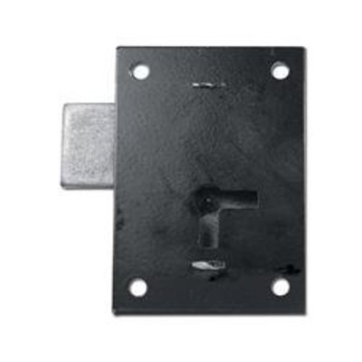 ASEC 155 1 Lever Straight Cupboard Lock - 75mm BLK KA Visi