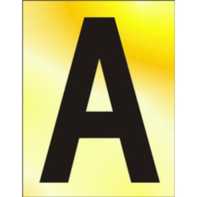 ASEC 75mm Brass Letters & Numerals - A