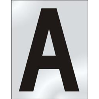 ASEC 75mm Chrome Letters & Numerals - A
