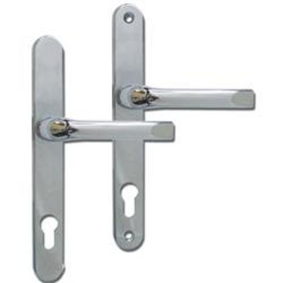 ASEC 92 Lever-Lever UPVC Furniture - 240mm Backplate - Chrome