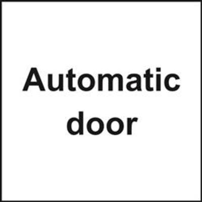 ASEC Automatic Door Sign 150mm x 150mm - 150mm x 150mm