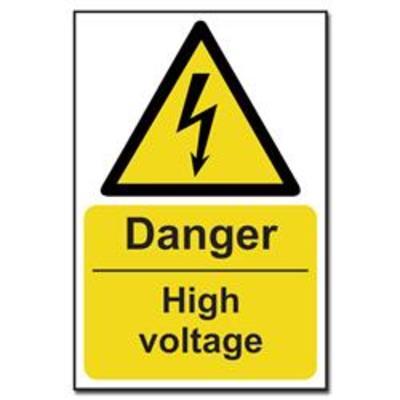 ASEC Danger- High Voltage Sign 200mm x 300mm - 200mm x 300mm