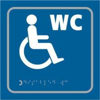 ASEC Disabled 150mm x 150mm Taktyle (Braille) Self Adhesive Sign - 1 Per Sheet