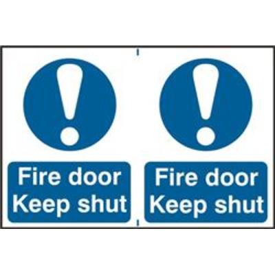 ASEC Fire Door Keep Shut 200mm x 300mm PVC Self Adhesive Sign - 2 Per Sheet
