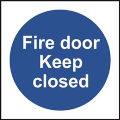 ASEC Fire door Keep closed Sign 100mm x 100mm - 100mm x 100mmASEC Fire door Keep closed Sign 100mm x 100mm - 100mm x 100mm