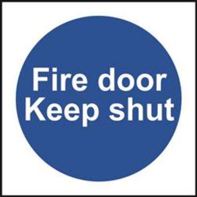 ASEC Fire door Keep shut Sign 100mm x 100mm - 100mm x 100mm