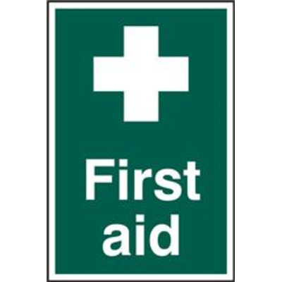 ASEC First Aid 200mm x 300mm PVC Self Adhesive Sign - 1 Per Sheet From £8.82
