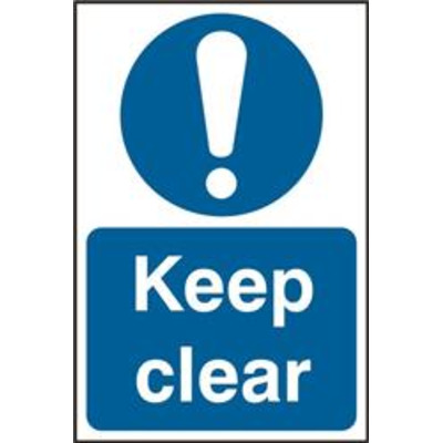 ASEC Keep Clear 200mm x 300mm PVC Self Adhesive Sign - 1 Per Sheet From £8.82