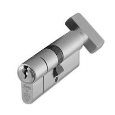 ASEC Kite BS 1 Star Kitemarked Euro Key & Turn Cylinder - 70mm 35-T35 (30-10-T30) KD NP Visi