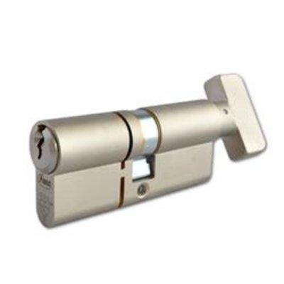ASEC Kite Elite 3 Star Snap Resistant Euro Key & Turn Cylinder - 70mm 35-T35 (30-10-T30) KD NP Visi