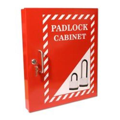 ASEC Lockout Tagout Padlock Cabinet - Red