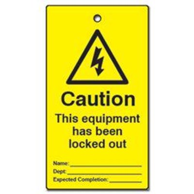 ASEC Lockout Tagout Tags This Equipment Has Been Locked Out Pack of 10 - Pack of 10
