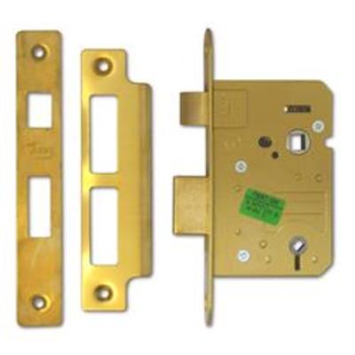 ASEC Mortice Bathroom Lock - 64mm PB Bagged