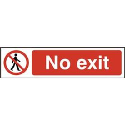 ASEC No Exit 200mm x 50mm PVC Self Adhesive Sign - 1 Per Sheet