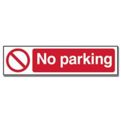 ASEC No Parking Sign 200mm x 50mm - 200mm x 50mm