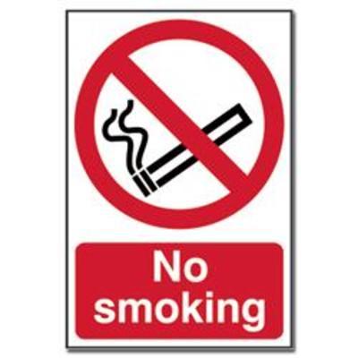 ASEC No Smoking Sign 200mm x 300mm - 200mm x 300mm