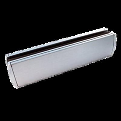 ASEC Sleek Letter Plate 40-80 - 310mm Wide - Satin Chrome