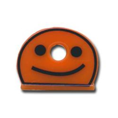 ASEC Smiley Face Half Moon Key Caps - Box of 200 - Assorted Colours