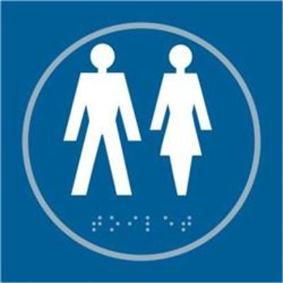 ASEC Unisex 150mm x 150mm Taktyle (Braille) Self Adhesive Sign - 1 Per Sheet