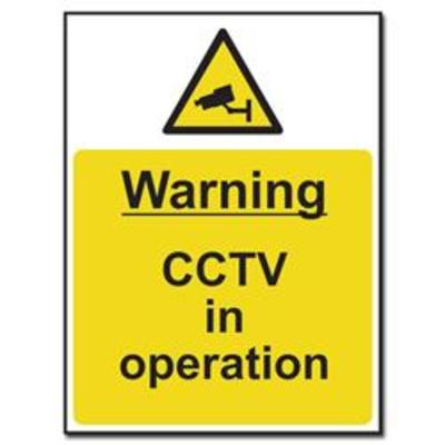 ASEC Warnin CCTV In Operation Sign 300mm x 400mm - 300mm x 400mm