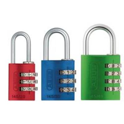 Abus 145 Series 40mm Coloured Combination Locks - Combination Padlocks