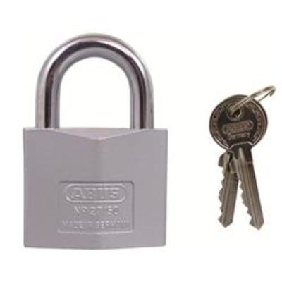 Abus 27 Series Silver Rock Padlocks - Key to differ