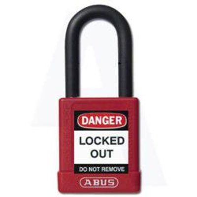 Abus 74 Series Lock Out Tag Out Coloured Aluminium Padlock - Abus L22474 74 Series