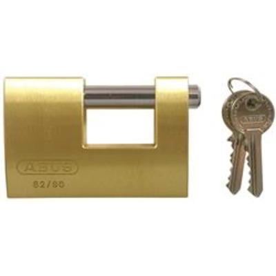 Abus 82 Series Brass Shutter Padlocks - Key to differ