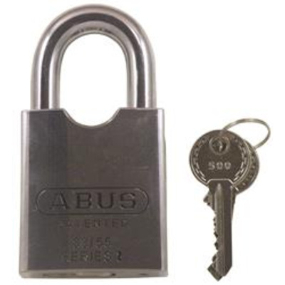 Abus 83-55 Series Rock Standard Shackle Steel Padlocks - Key to differ