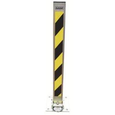 Autolok Fold Down Padlockable Parking Post - Yellow-Black and Gold