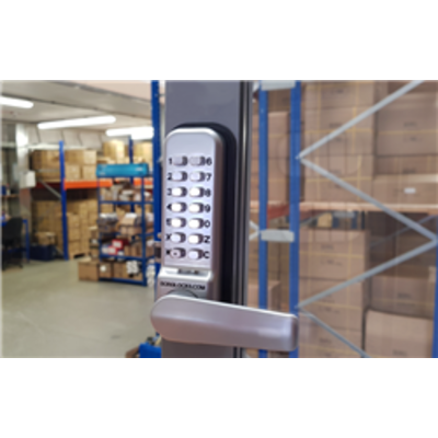BL2422 ECP, 28mm ali latch, back to back free turning lever handle keypads