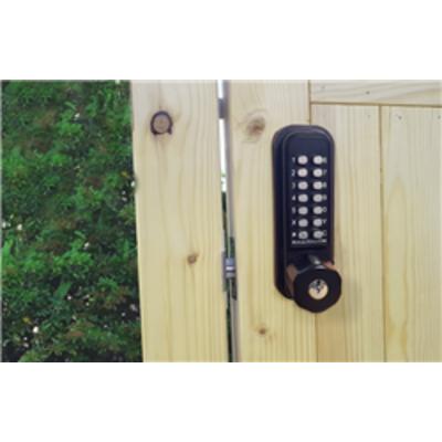BL2701MG Marine Grade, Tubular Latch, keypad with key override & inside paddle handle with holdback
