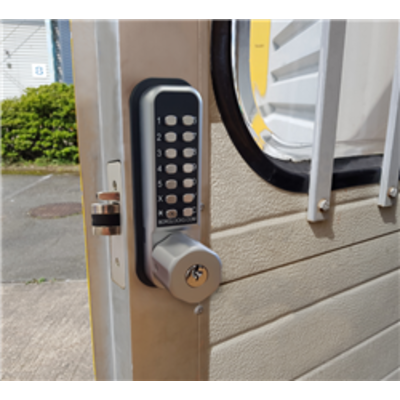 BL2702 ECP, 28mm ali latch, ECP keypad with key override & inside paddle handle with holdback