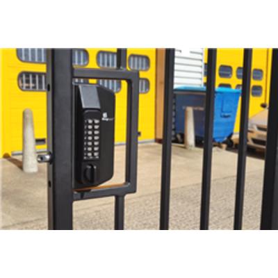 BL3100 Metal Gate Lock with anti climb knob turn keypad and inside holdback paddle handle