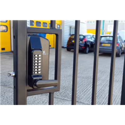 BL3400 ECP Metal Gate Lock with free turning lever ECP keypad, Inside holdback lever handle
