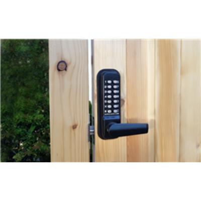 BL4401 ECP MG, Free turning Lever handle ECP keypad, inside holdback lever handle