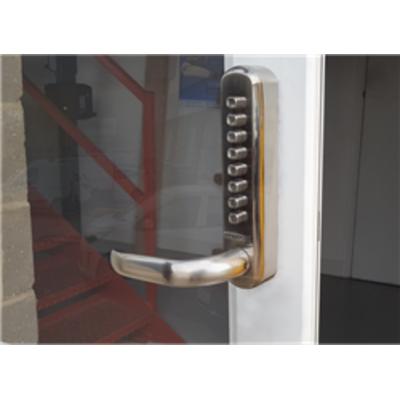 BL6001 FT Flat bar lever handles, Keypad & inside unit, 60mm latch